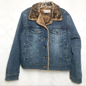 Marvin Richards Faux Fur Lined Denim Jacket